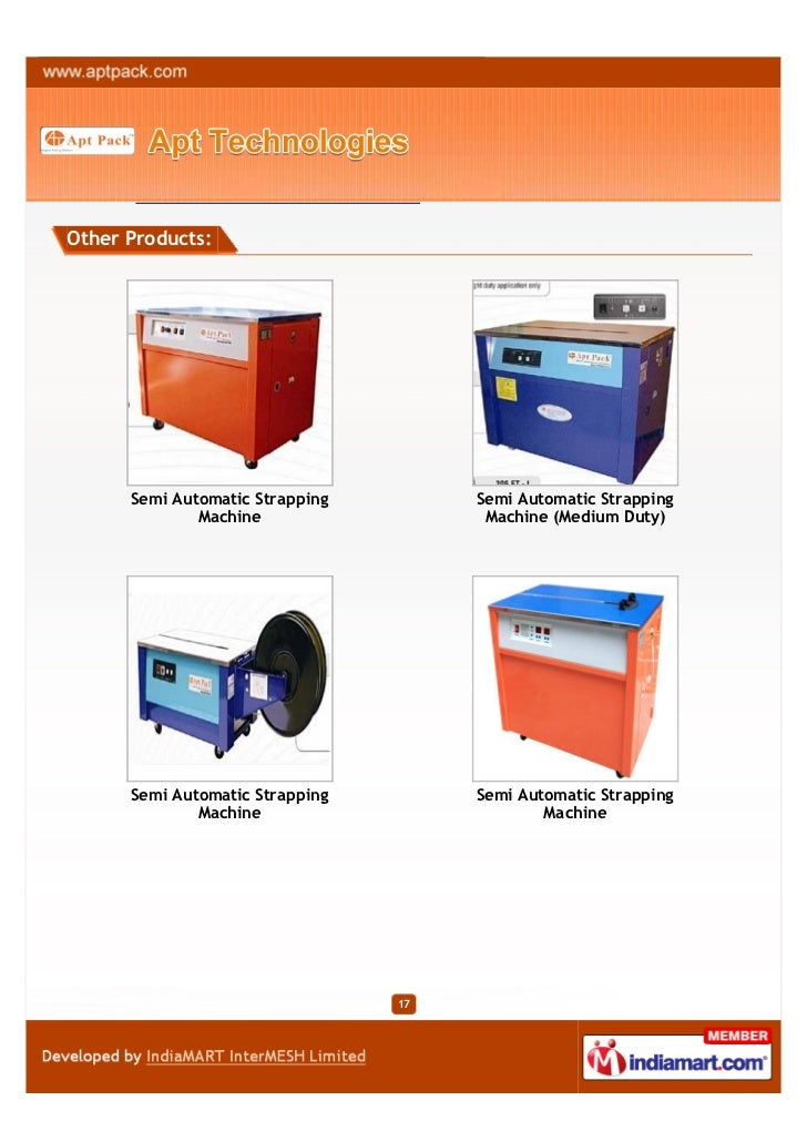 Other Products:      Semi Automatic Strapping        Semi Automatic Strapping              Machine                  Machin...