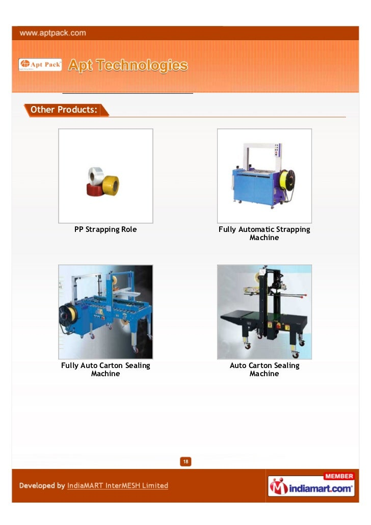 Other Products:         PP Strapping Role             Fully Automatic Strapping                                           ...