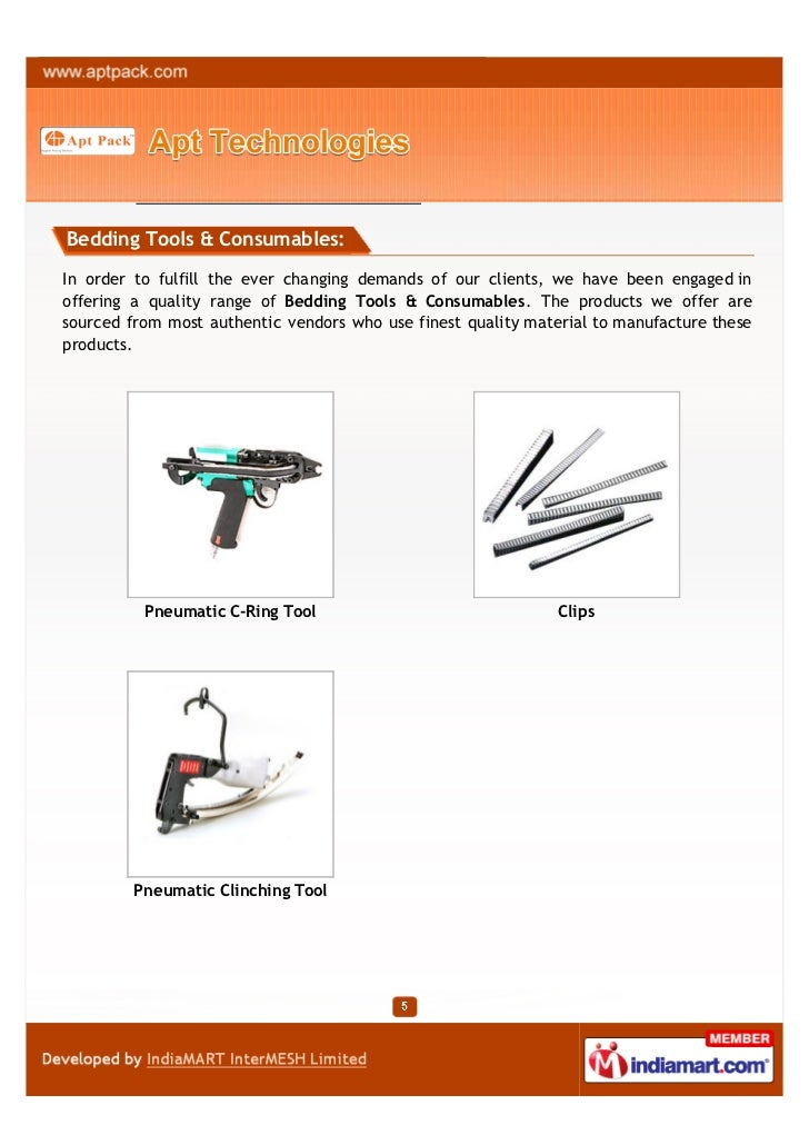 Bedding Tools & Consumables:In order to fulfill the ever changing demands of our clients, we have been engaged inoffering ...