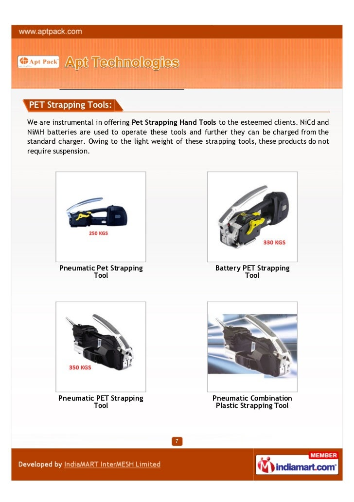 PET Strapping Tools:We are instrumental in offering Pet Strapping Hand Tools to the esteemed clients. NiCd andNiMH batteri...