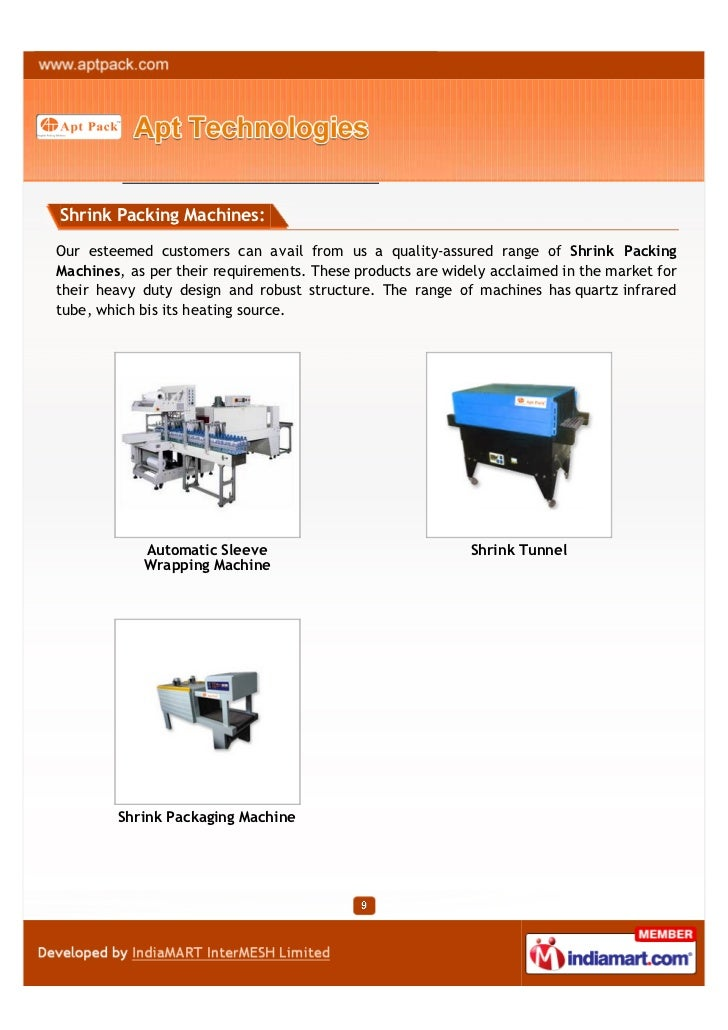 Shrink Packing Machines:Our esteemed customers can avail from us a quality-assured range of Shrink PackingMachines, as per...