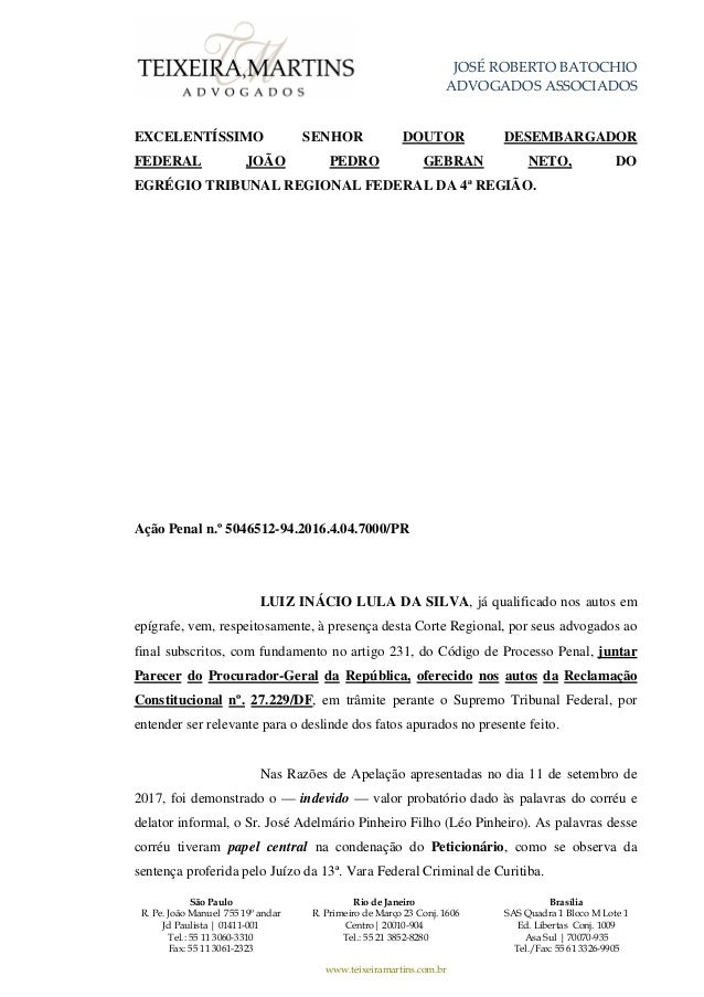 JOSÉ ROBERTO BATOCHIO ADVOGADOS ASSOCIADOS São Paulo R. Pe. João Manuel 755 19º andar Jd Paulista | 01411-001 Tel.: 55 11 ...