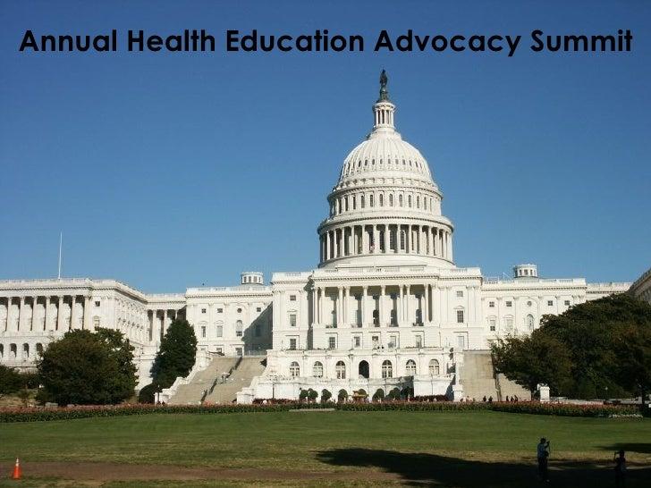 Annual Health Education Advocacy Summit