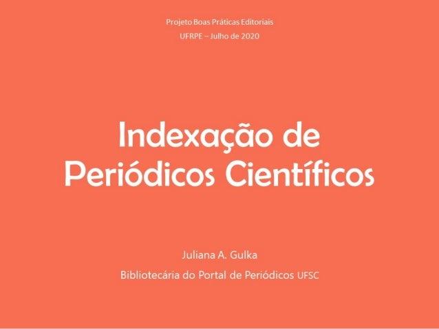 Indexação de Periódicos Científicos