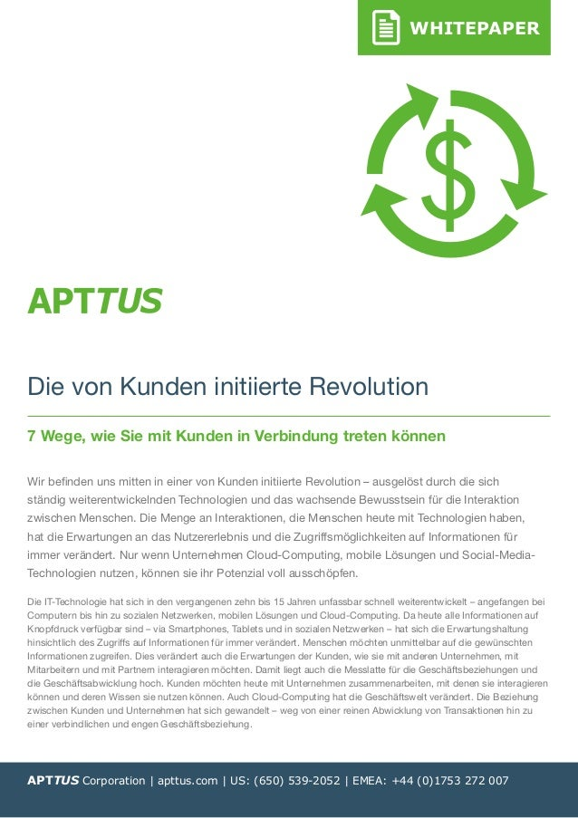 WHITEPAPERWHITEPAPER APTTUS Corporation | apttus.com | US: (650) 539-2052 | EMEA: +44 (0)1753 272 007 Die von Kunden initi...