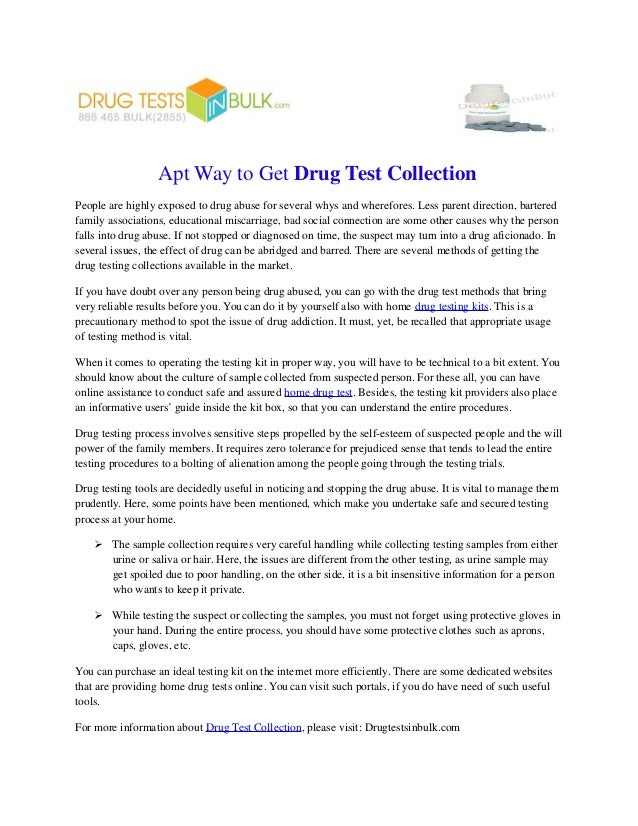Apt way to get drug test collection apt way to get drug test collection people are highly exposed to drug abuse for several solutioingenieria Choice Image