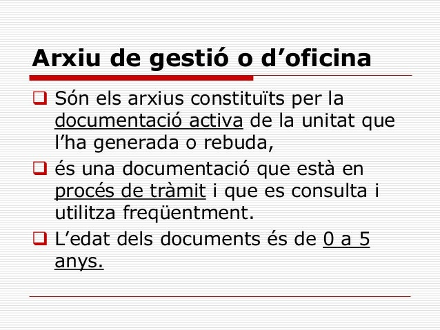 Apunt arxiu for Oficina i arxiu