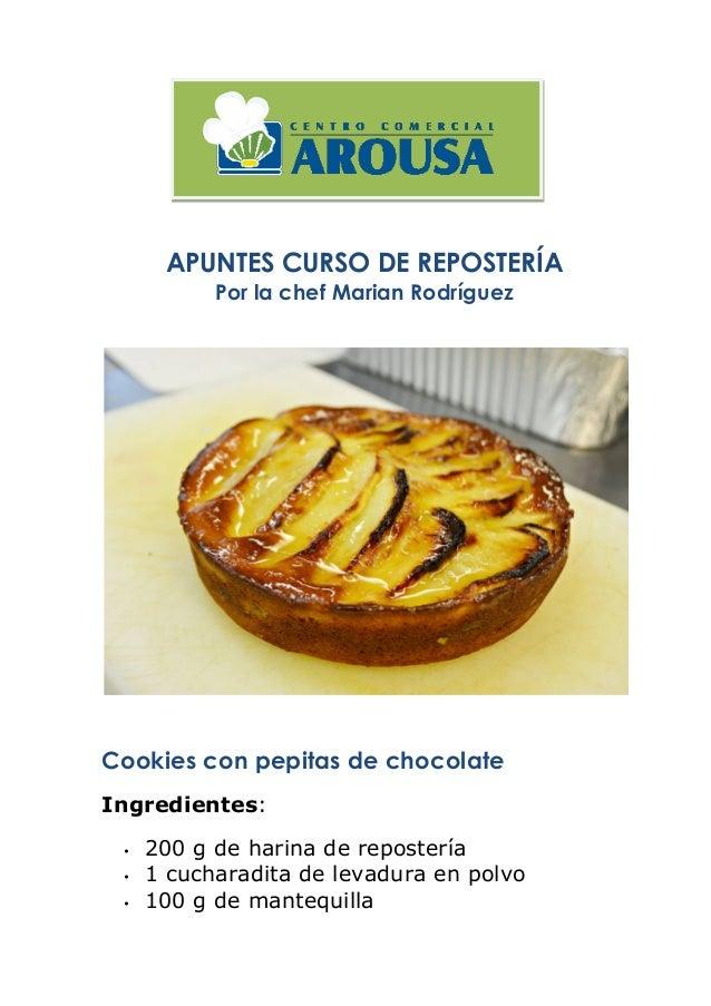Recetas del curso de reposter a para golosos - Kiona asturias ...