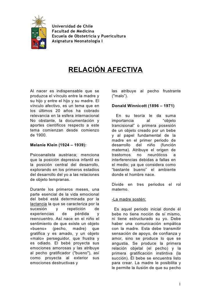 Universidad de Chile            Facultad de Medicina            Escuela de Obstetricia y Puericultura            Asignatur...