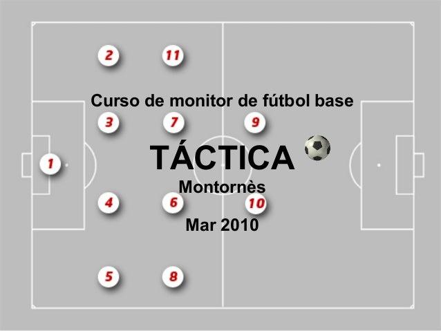 Curso de monitor de fútbol baseTÁCTICAMontornèsMar 2010