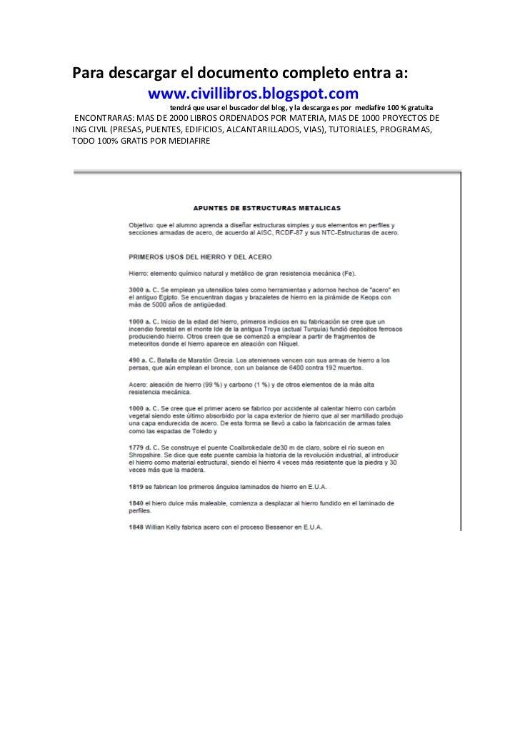 Para descargar el documento completo entra a:          www.civillibros.blogspot.com                      tendrá que usar e...