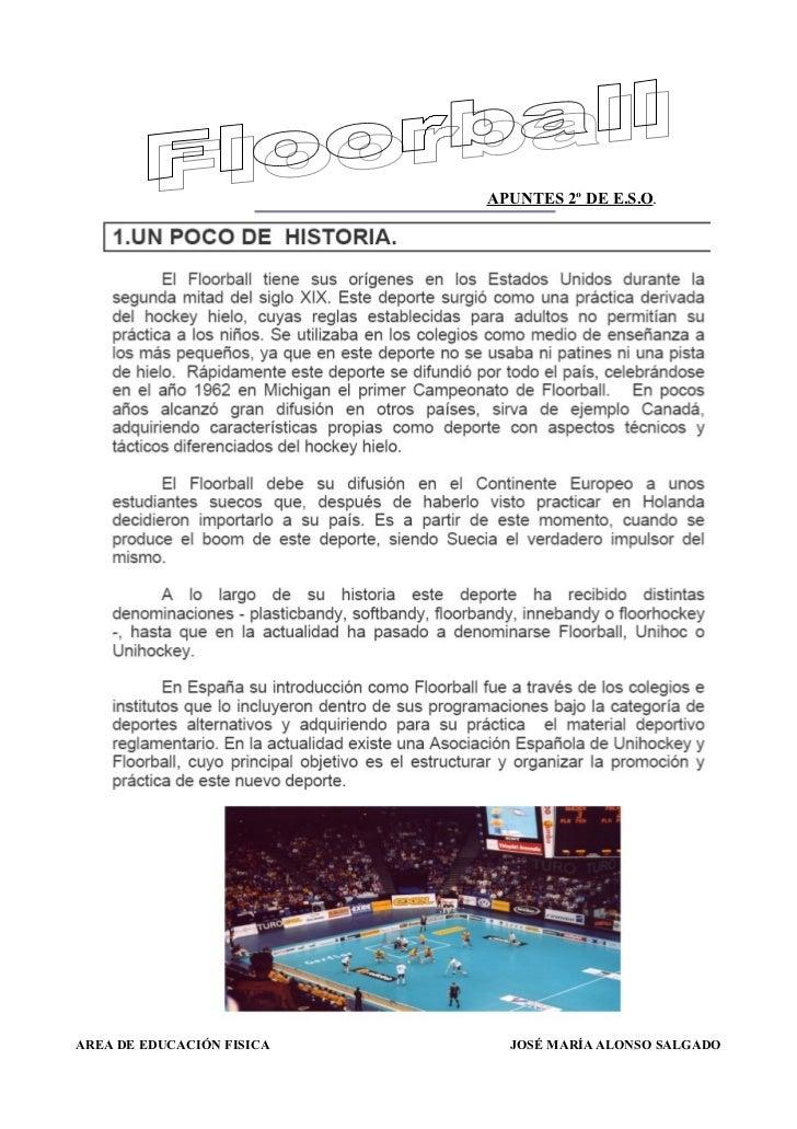 APUNTES 2º DE E.S.O.AREA DE EDUCACIÓN FISICA     JOSÉ MARÍA ALONSO SALGADO