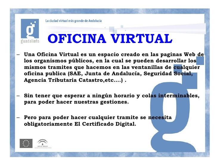 Apuntes administracion electronica for Oficina virutal catastro