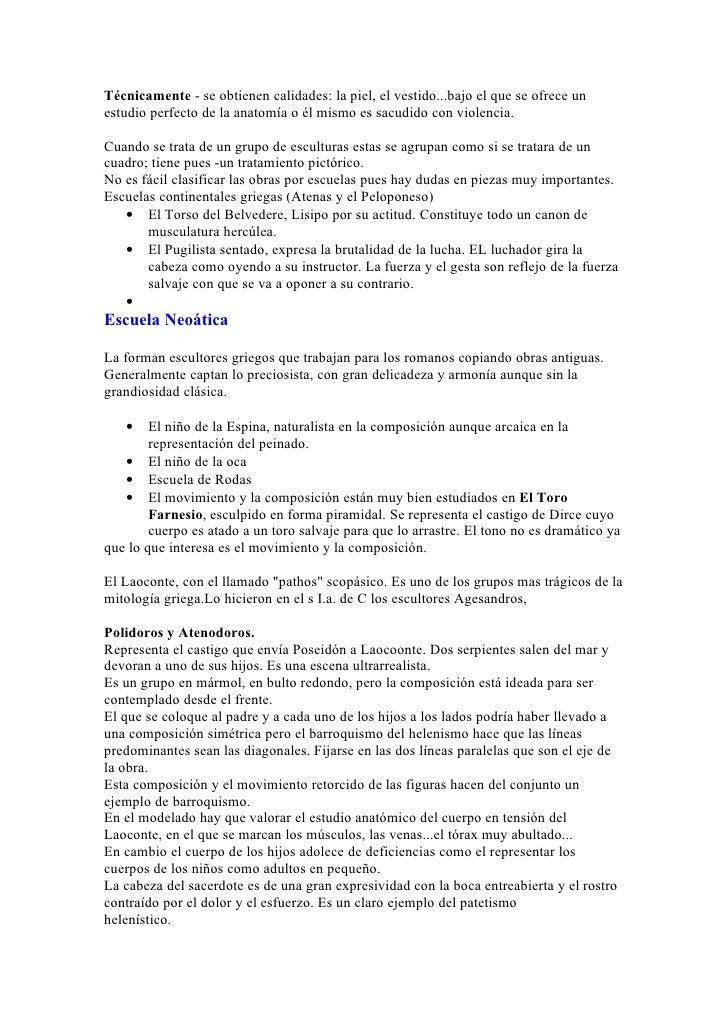 Apuntes Historia del Arte (a mano) COU