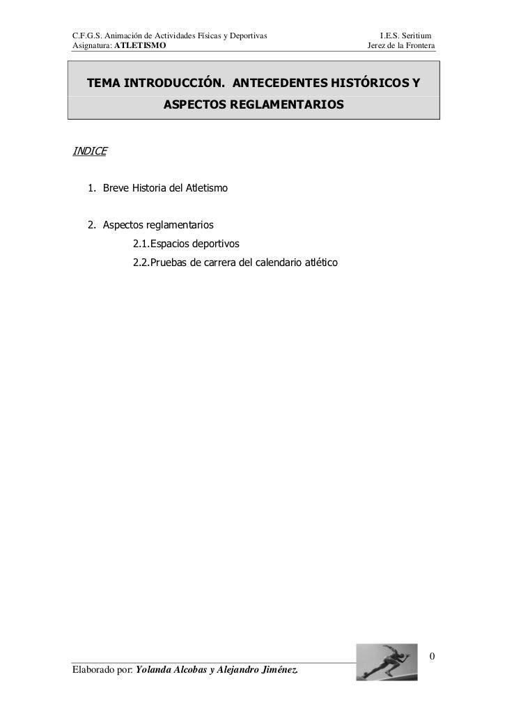 C.F.G.S. Animación de Actividades Físicas y Deportivas                I.E.S. SeritiumAsignatura: ATLETISMO                ...