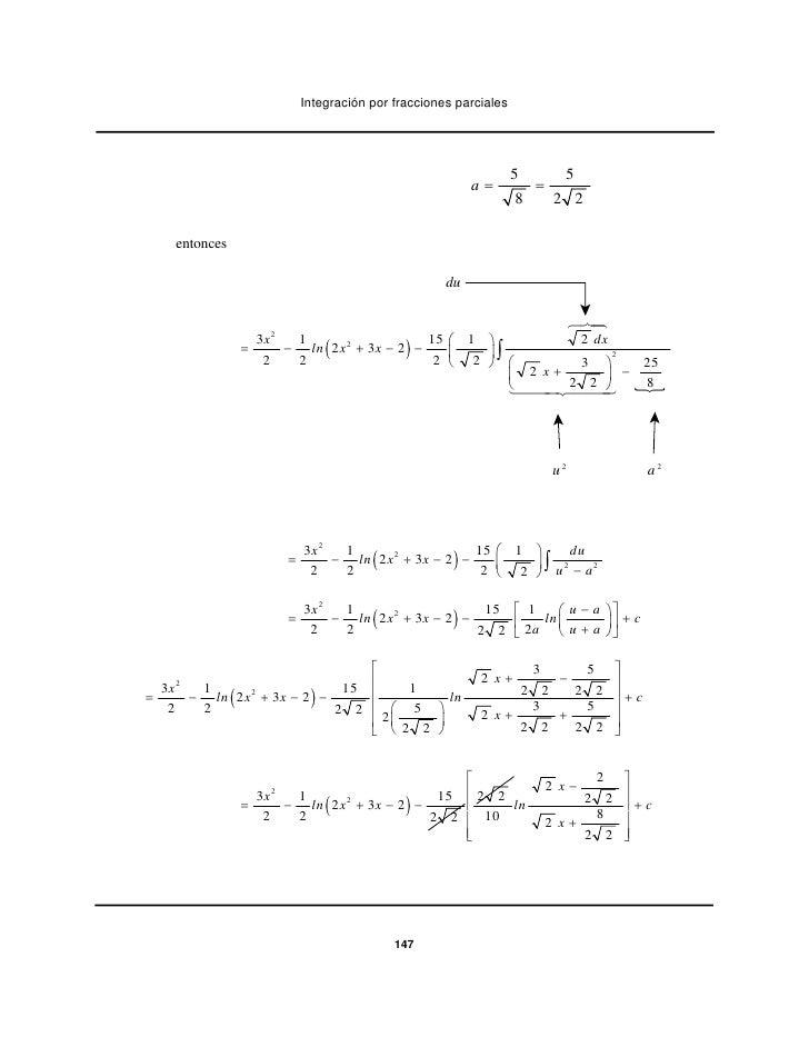 Integración por fracciones parciales                                                                    5         5       ...
