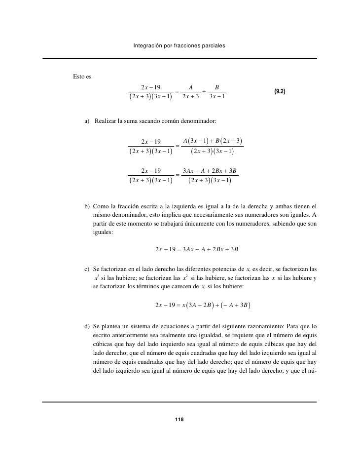 Integración por fracciones parcialesEsto es                            2 x − 19         A      B                          ...