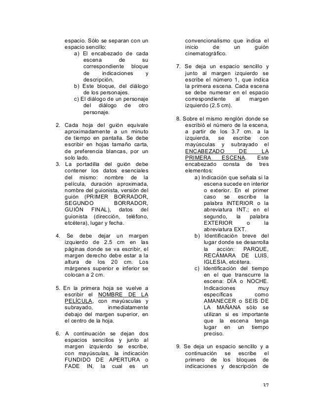 Apuntes de clase guion argumental Unidad II