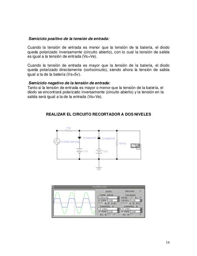 Circuito Recortador : Apuntes diodos transistores