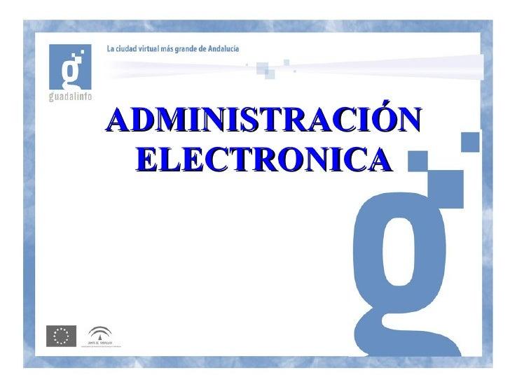 ADMINISTRACIÓN  ELECTRONICA