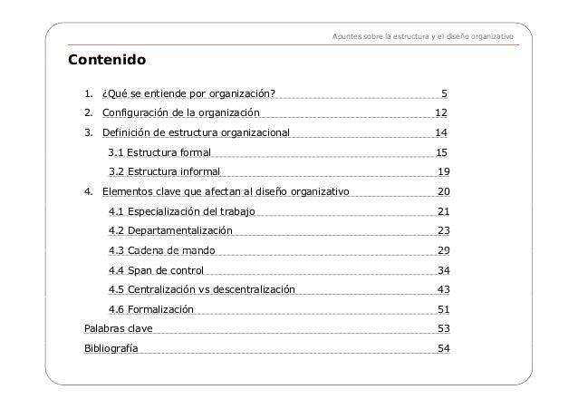 apuntes sobre estructura y diseño organizacional - e gallardo