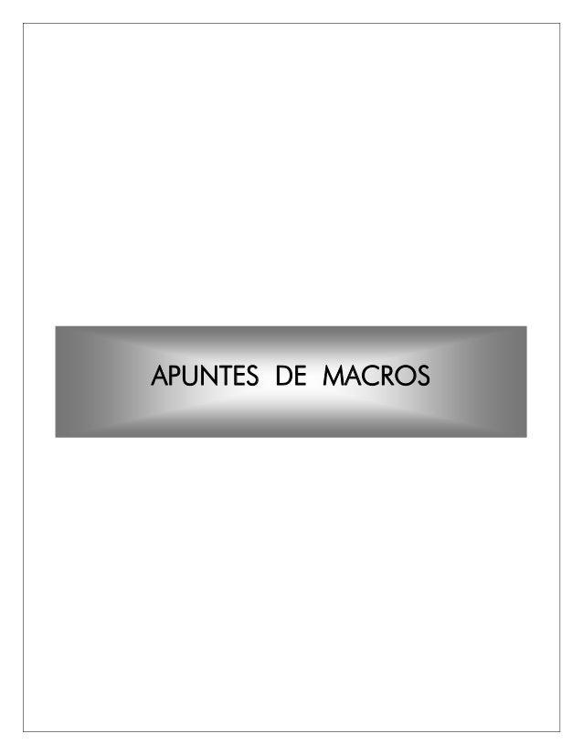 APUNTES DE MACROS