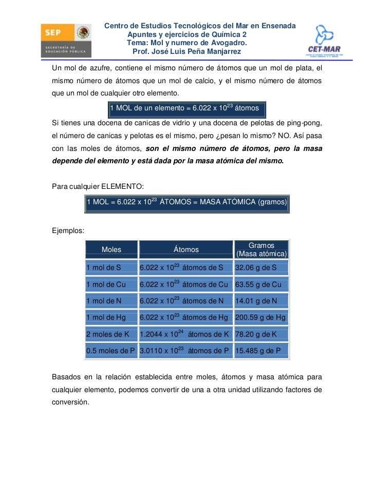 Centro de Estudios Tecnológicos del Mar en Ensenada                        Apuntes y ejercicios de Química 2              ...