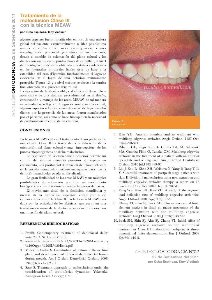 Tratamiento de laAPUNTESENORTODONCIA 22 de Setiembre 2011                                           maloclusión Clase III ...