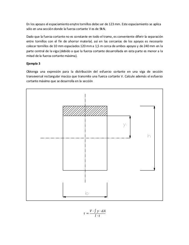 En los apoyos el espaciamiento enytre tornillos debe ser de 123 mm. Este espaciamiento se aplica sólo en una sección donde...