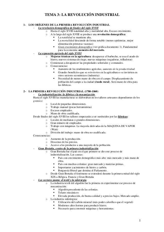 1 TEMA 3: LA REVOLUCIÓN INDUSTRIAL 1- LOS ORÍGENES DE LA PRIMERA REVOLUCIÓN INDUSTRIAL - La revolución demográfica de fina...