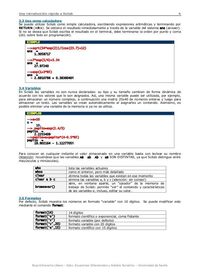 Apuntes Scilab