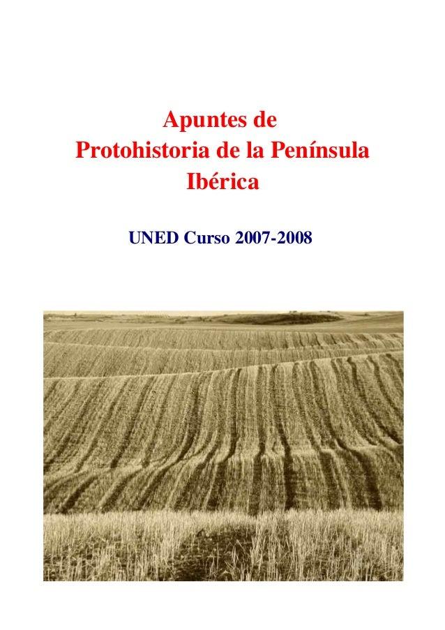 Apuntesde ProtohistoriadelaPenínsula Ibérica UNEDCurso20072008