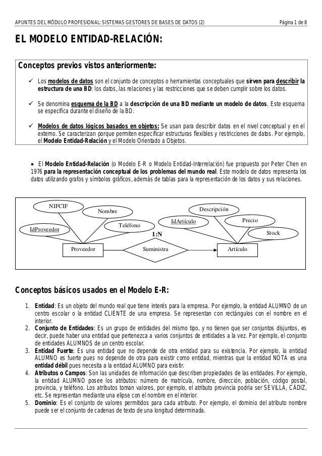 APUNTES DEL MÓDULO PROFESIONAL: SISTEMAS GESTORES DE BASES DE DATOS (2)                                       Página 1 de ...