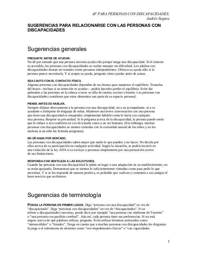 AF PARA PERSONAS CON DISCAPACIDADES.                                                                          Andrés Segur...
