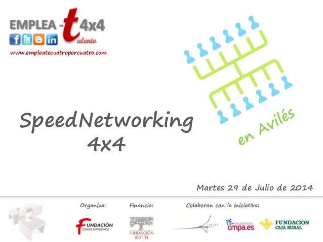 Martes 29 de Julio de 2014 www.empleatecuatroporcuatro.com SpeedNetworking 4x4