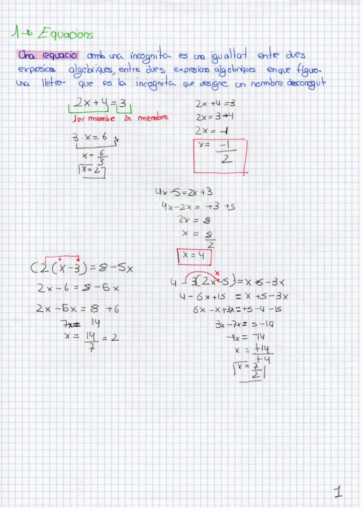 Apunts matemàtiques - Equacions i Sistemes Slide 3