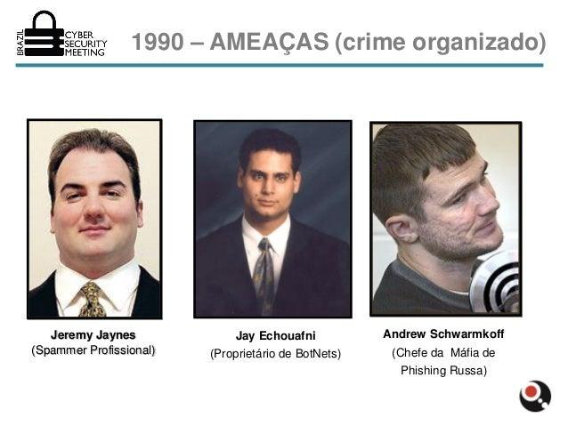 1990 – AMEAÇAS (crime organizado)   Jeremy Jaynes             Jay Echouafni           Andrew Schwarmkoff(Spammer Profissio...