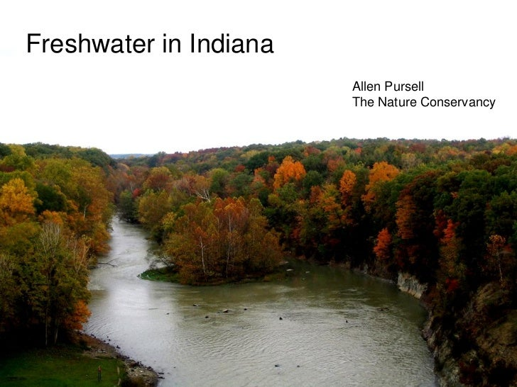 Freshwater in Indiana                        Allen Pursell                        The Nature Conservancy