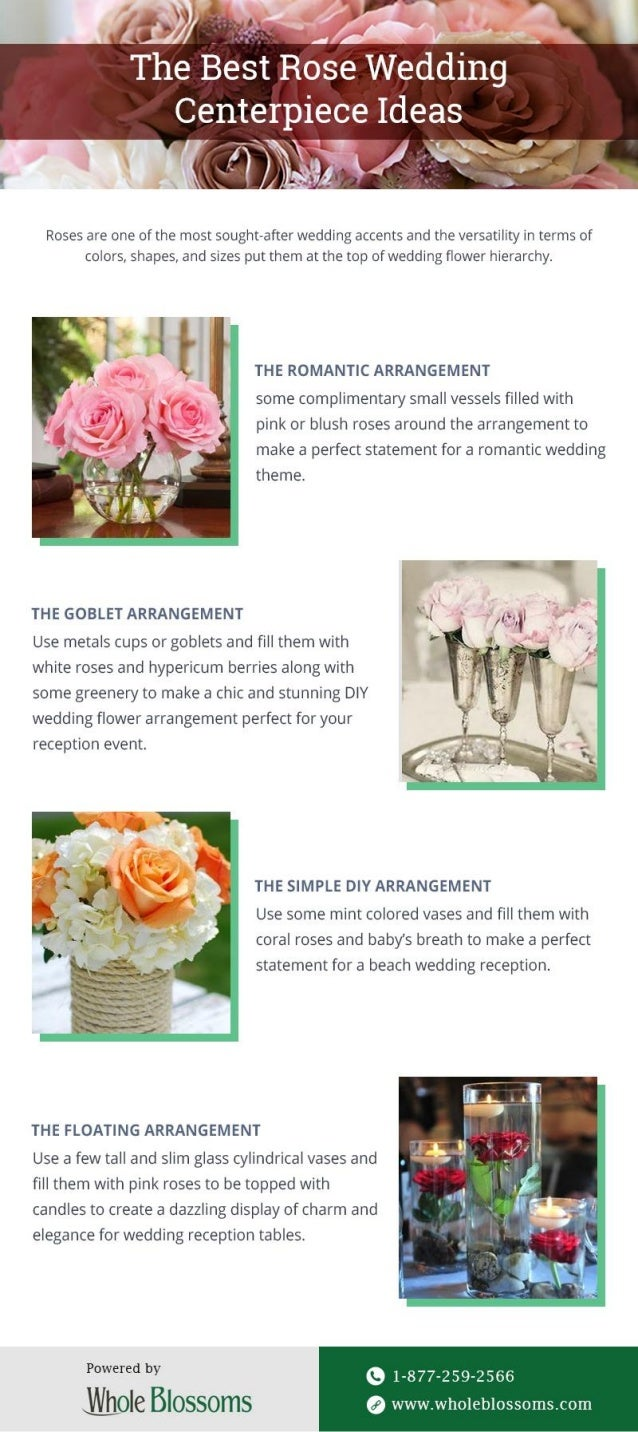 Best Unique Rose Wedding Centerpieces For Sale