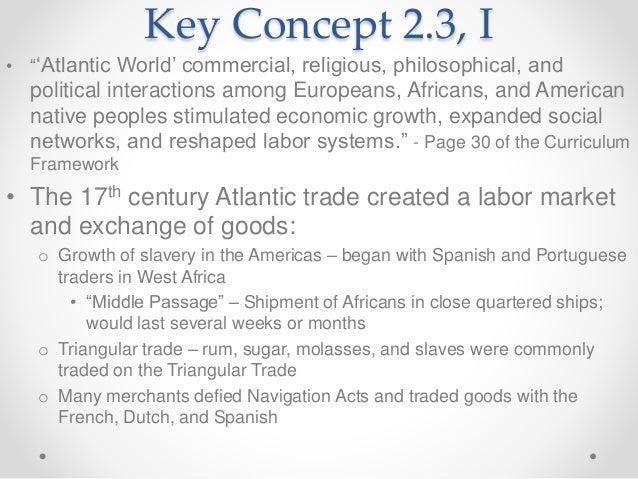Define atlantic trading system apush