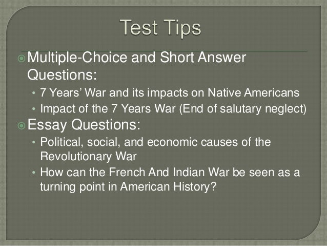 french and indian war dbq answers