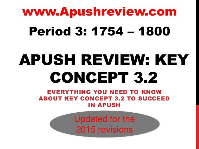 Apush review-key-concept-3 2-revised-2015