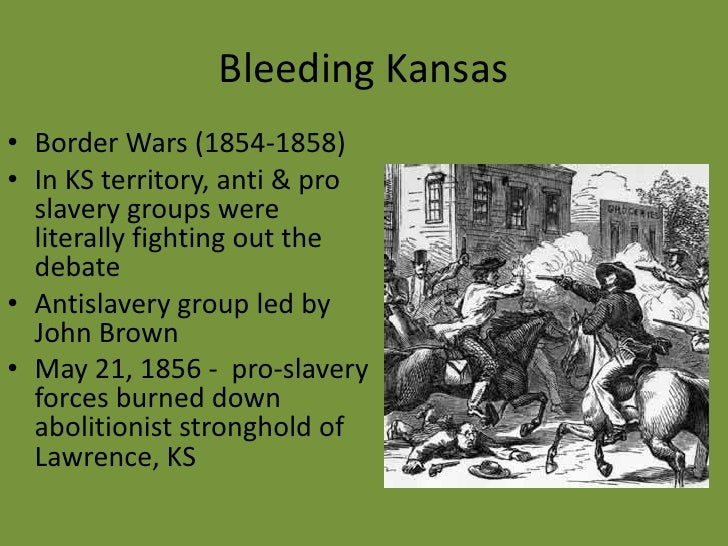 bleeding kansas essay Bleeding kansas, bleeding missouri blends essays on slavery and politics of law and order along the border examine how the border region was transformed by.