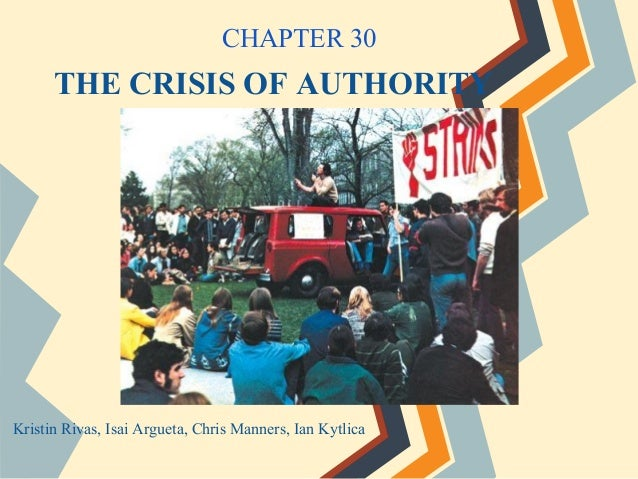 THE CRISIS OF AUTHORITYKristin Rivas, Isai Argueta, Chris Manners, Ian KytlicaCHAPTER 30