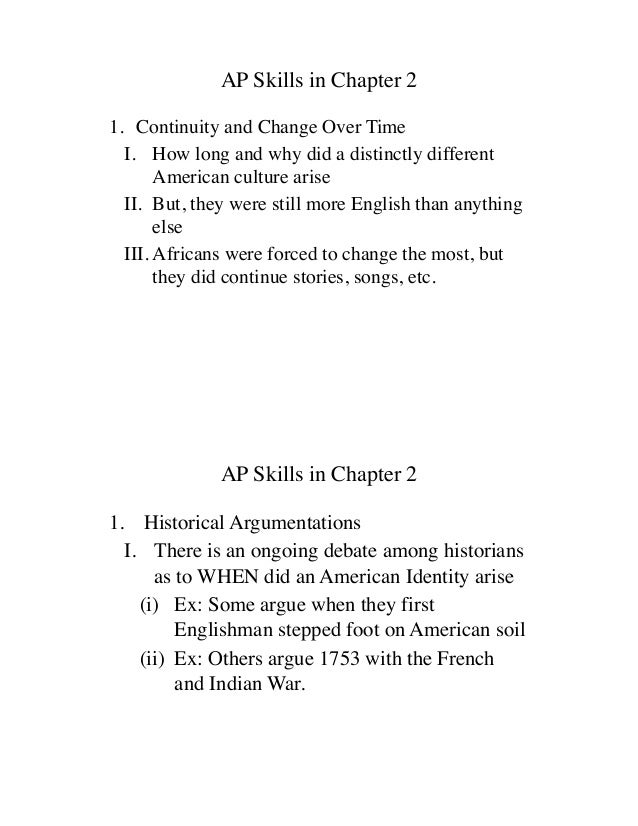AP US History Chapter 2
