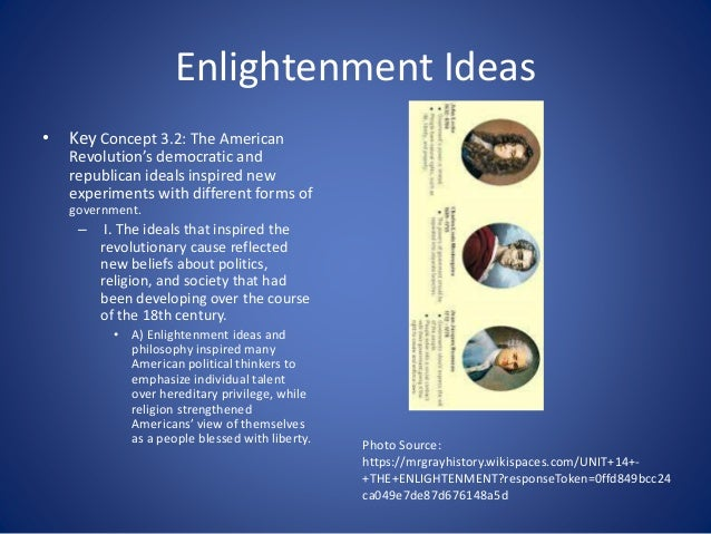 enlightenment ideas inspired the american and Standard 7-25: the enlightenment's influence on the american and french revolutions the american revolution was inspired by the enlightenment.