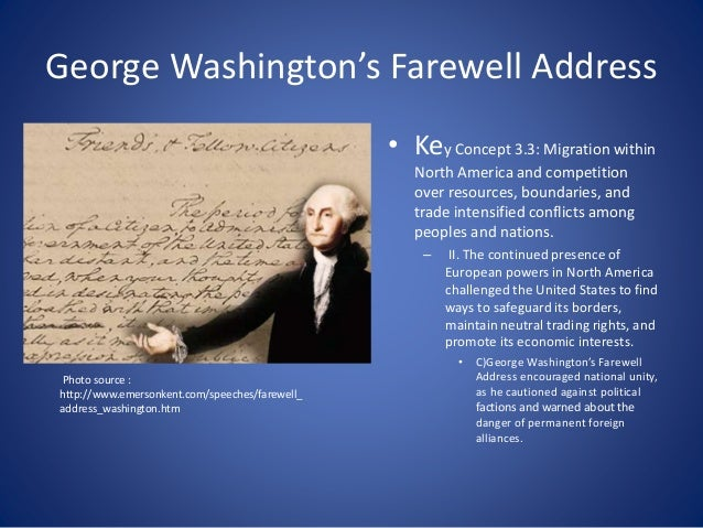 analysis of washington s farewell address Founding brothers summary and analysis of chapter four: the farewell buy study guide summary washington's farewell address, as the letter is now called.