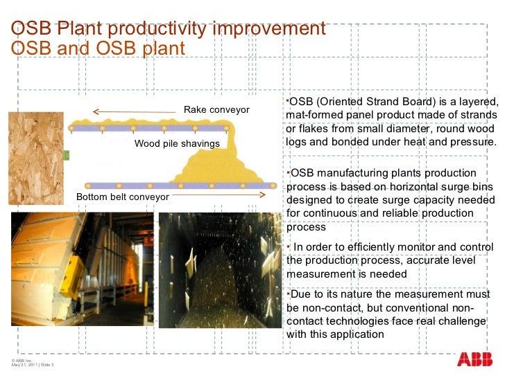 Laser level to improve plant productivity at a wood board manufacturer Slide 3