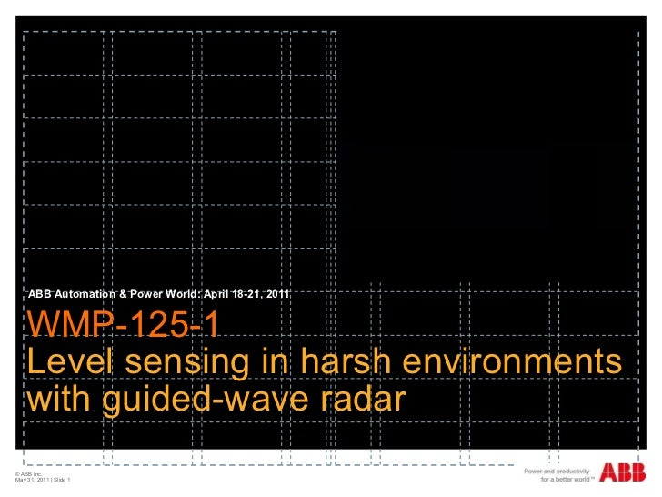 WMP-125-1  Level sensing in harsh environments with guided-wave radar ABB Automation & Power World: April 18-21, 2011 © AB...