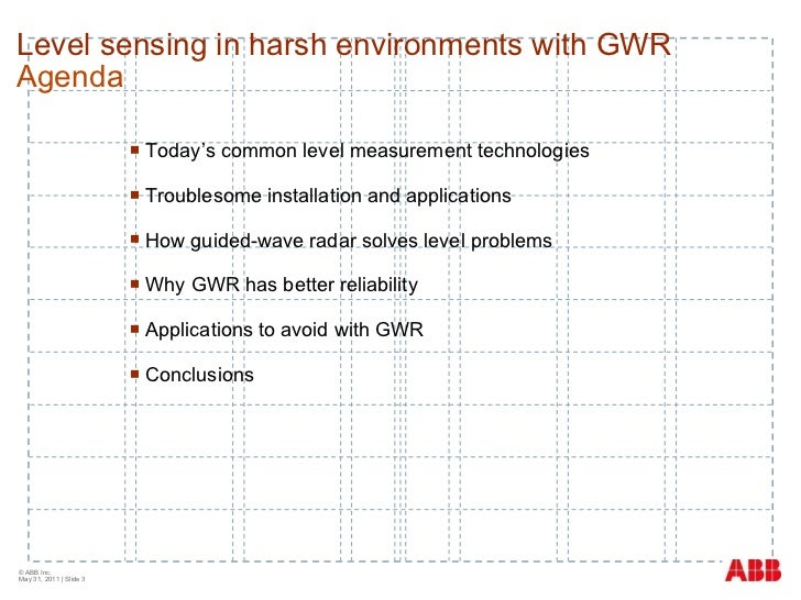 Level sensing in harsh environments with GWR Slide 3